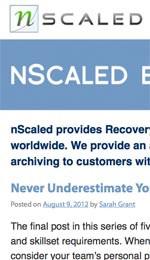 Nscaled Blog